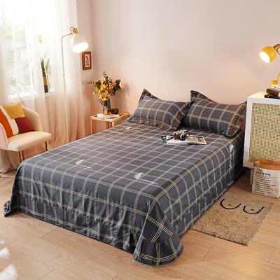 2021新款加厚全棉印花系列单床单 245cmx250cm 幸福格调 深灰