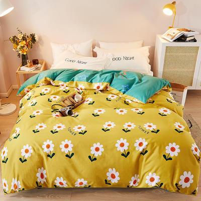 2021新款加厚全棉印花系列单被套 180x220cm 你的微笑-黄