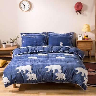 2018 爱思凯250克金貂绒四件套 (床单款)1.2m床 在暖冬