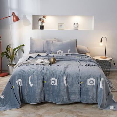 2019新款250克牛奶绒珊瑚绒法莱绒金貂绒单床单  场景一 200cmx230cm 都市生活