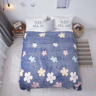 2019新款250克牛奶绒珊瑚绒法莱绒金貂绒单床单  场景二 180cmx230cm 春暖花开