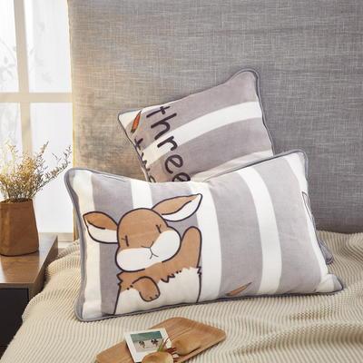 2019新款250克牛奶绒珊瑚绒法莱绒金貂绒单枕套 场景一 48cmx74cm/一只 兔小哥
