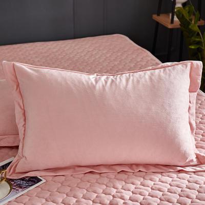 2019新款牛奶绒珊瑚绒法莱绒金貂绒水晶绒素色单枕套  拍摄场景1 48cmX74cm  一对 玉色