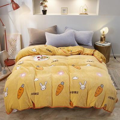 2019新款250克牛奶绒珊瑚绒法莱绒金貂绒单床单  场景一 230cmx250cm 我爱萝卜