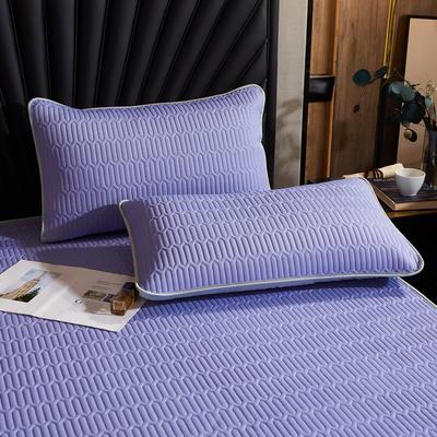 2020新款凉感丝乳胶单品枕套 48cmX74cm/对 黛紫