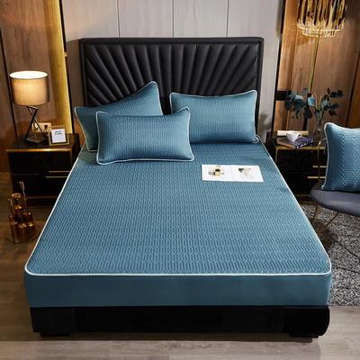 2020新款床笠款凉感乳胶席三件套 135*200 三件套 森系绿