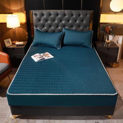 2021新款素色凉感乳胶床笠席三件套和单品 (0.4加厚乳胶) 90*200(二件套) 宝石蓝