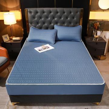 2021新款素色凉感乳胶床笠席三件套和单品 (0.4加厚乳胶)