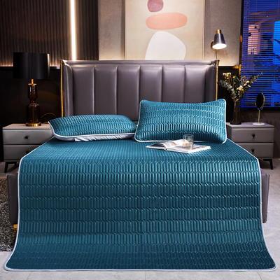 2021爱思凯纯色乳胶床单席三件套和单品(0.4加厚乳胶) 90*200(二件套) 宝石蓝