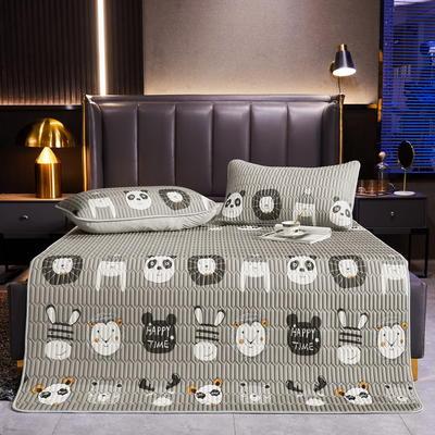 2021新款印花乳胶床单席三件套和单品(0.4加厚乳胶) 90*200cm(二件套) 动物组合