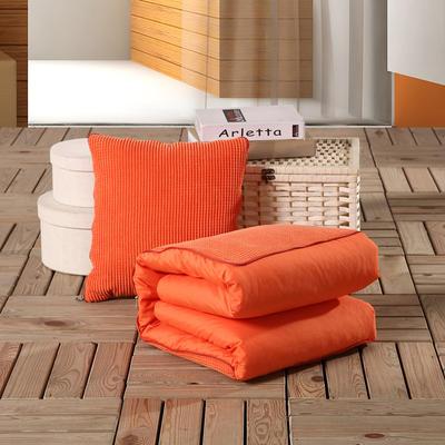 玉米粒抱枕被系列橙色 40*40cm,打开后105*150cm 橙色