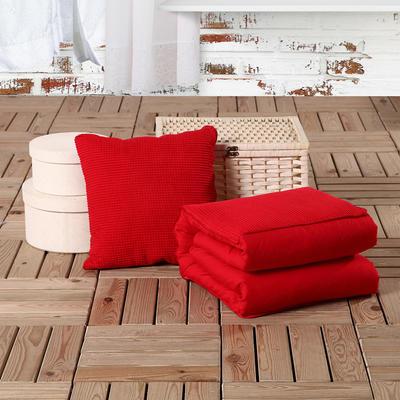 玉米粒抱枕被系列大红 40*40cm,打开后105*150cm 大红