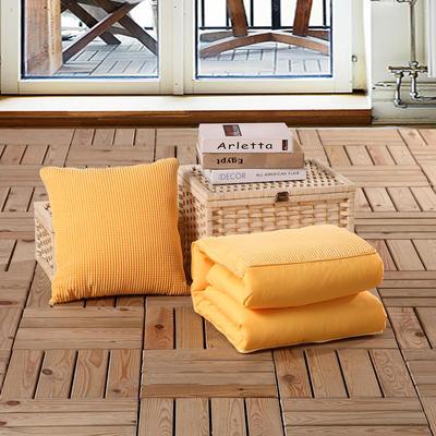 玉米粒抱枕被系列黄色 40*40cm,打开后105*150cm 黄色