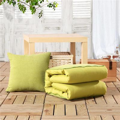 玉米粒抱枕被系列绿色 50*50cm,打开后150*195cm 绿色