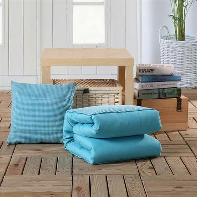 玉米粒抱枕被系列天蓝 40*40cm,打开后105*150cm 天蓝