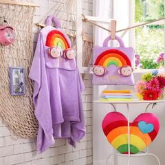 彩虹猴-紫 38*38cm,打开110*160cm 彩虹猴-紫