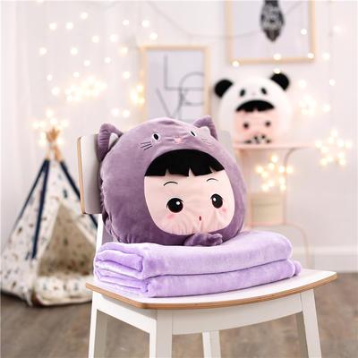 娃娃假扮小猫-紫 110*160cm 娃娃假扮小猫-紫