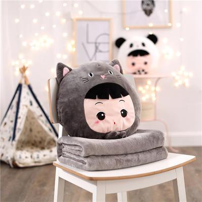 娃娃假扮小猫-灰 110*160cm 娃娃假扮小猫-灰