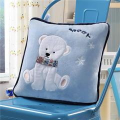 北极熊-蓝 40*40,打开110*160cm 北极熊蓝