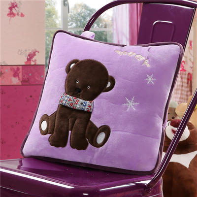北极熊-紫 40*40cm,打开110*160cm 北极熊-紫