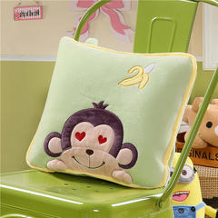 香蕉猴-绿 40X40cm,打开110*160cm 香蕉猴-绿