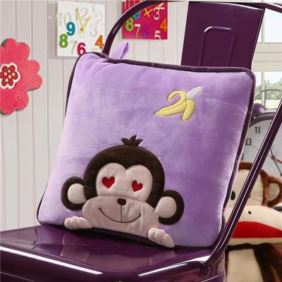 香蕉猴-紫 40X40cm,打开110*160cm 香蕉猴-紫