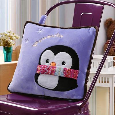 企鹅-紫 40X40cm,打开110*160cm 企鹅-紫
