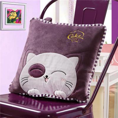 蒙眼猫咪-紫 40X40cm,打开110*160cm 蒙眼猫咪-紫
