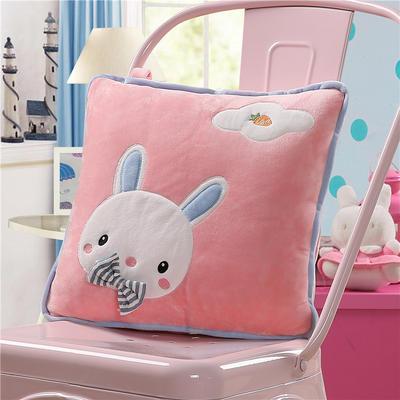 可爱兔子-粉 40X40cm,打开110*160cm 可爱兔子-粉