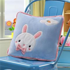 可爱兔子-蓝 40X40cm,打开110*160cm 可爱兔子-蓝