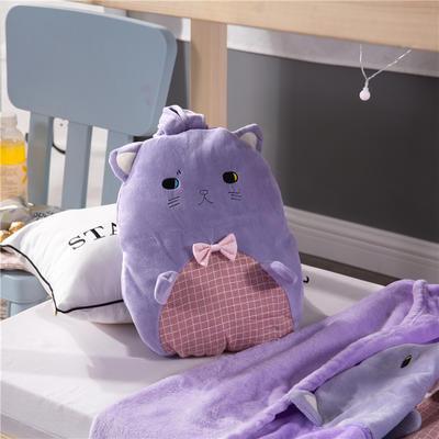 蝴蝶结猫咪-紫 110*160cm 蝴蝶结猫咪-紫