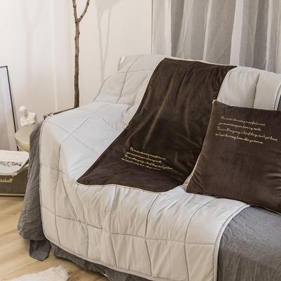 意大利绒轻奢抱枕被 45x45cm 酱咖色