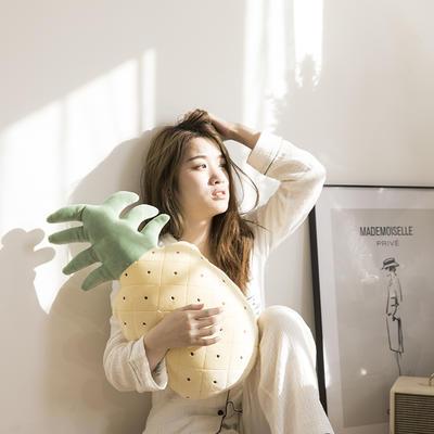 网红风抱枕毯 110*160cm 清新菠萝