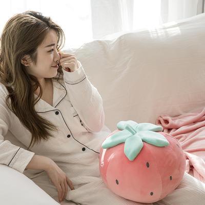 网红风抱枕毯 110*160cm 清新草莓