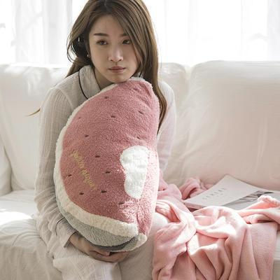 软绵绵抱枕毯 110*160cm 深粉西瓜