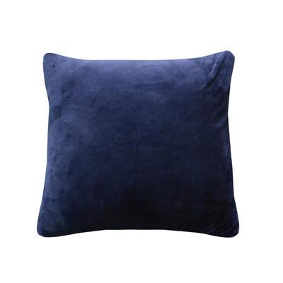 水晶超柔纯色抱枕被 40X40cm 藏青
