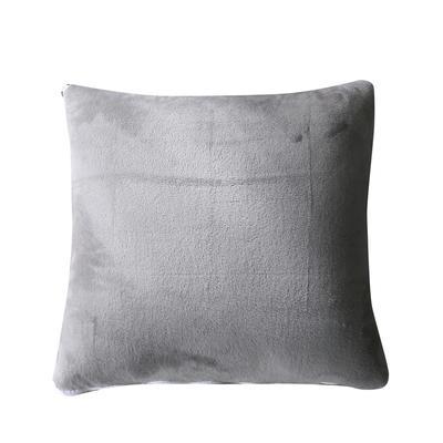 水晶超柔纯色抱枕被 40X40cm 浅灰