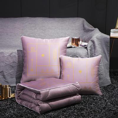 水洗真丝烫金抱枕被 40X40cm 紫罗兰
