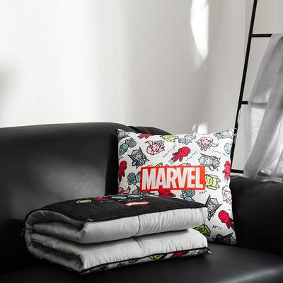 正版迪士尼-漫威系列抱枕被 40X40cm 复联白