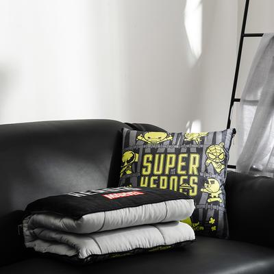 正版迪士尼-漫威系列抱枕被 40X40cm 复联黄