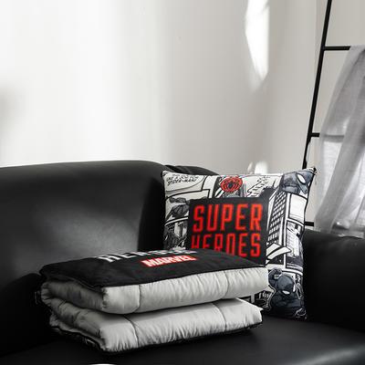 正版迪士尼-漫威系列抱枕被 40X40cm 蜘蛛侠白