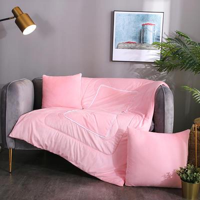水晶超柔纯色抱枕被 40X40cm 嫩粉