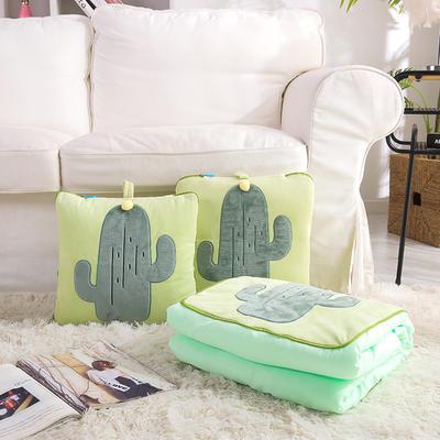 治愈系列抱枕被/毯 毯子款 仙人掌绿