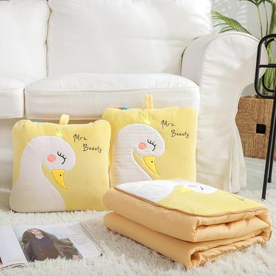 治愈系列抱枕被/毯 被子款 天鹅黄