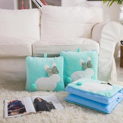 治愈系列抱枕被/毯 毯子款 暖兮小兔绿