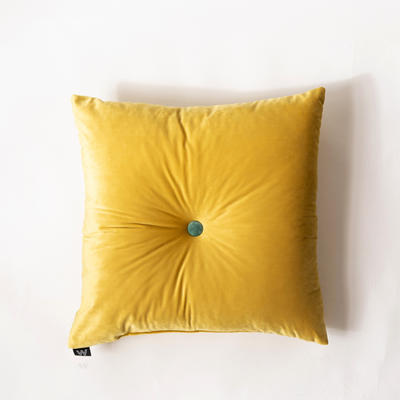 纯色意大利绒抱枕靠垫 40X40cm 奥丁金正方形(50*-50cm,带纽扣)