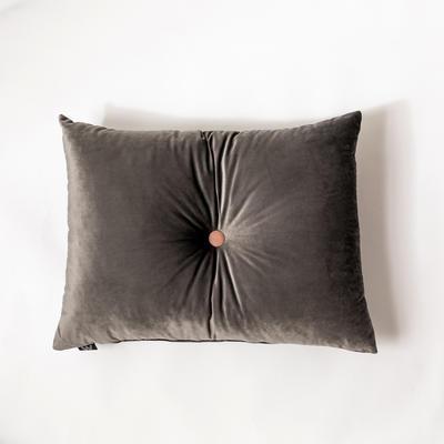 纯色意大利绒抱枕靠垫 40X40cm 高级灰长方形(60*45cm,带纽扣)