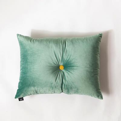 纯色意大利绒抱枕靠垫 40X40cm 奢华绿长方形(60*45cm,带纽扣)