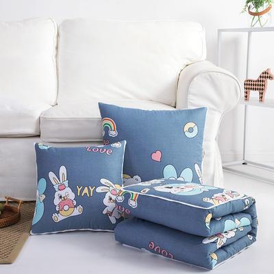 2020上新-优舒绒抱枕被 40X40cm 彩虹兔