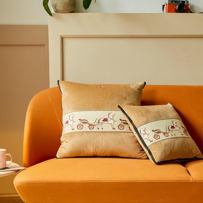 爱马仕高奢系列抱枕被 50X50cm 奶茶色